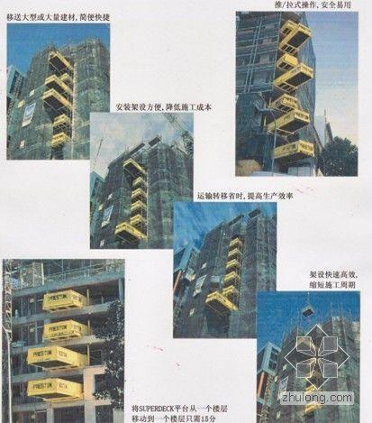 建筑施工用伸缩式卸料平台