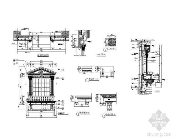 欧式建筑窗详图3