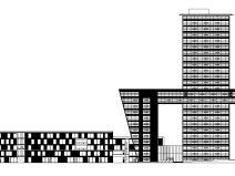 [上海]现代风格国际设计中心建筑施工图设计—同济