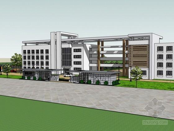小学建筑设计方案sketchup模型下载