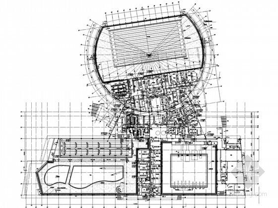 [江苏]体育中心游泳馆空调通风设计施工图(大院图纸)