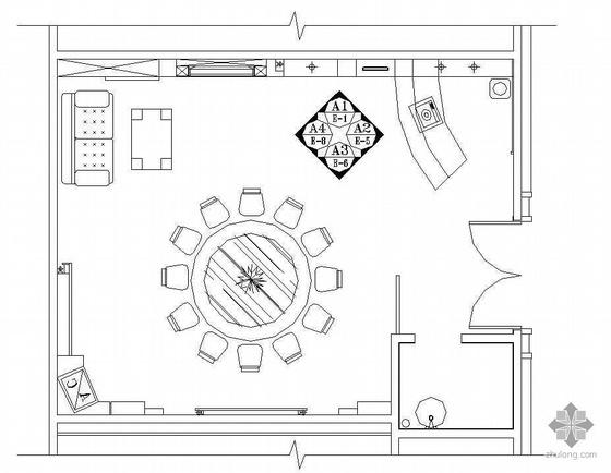 某餐厅包间装修施工图2