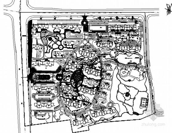 [湖南长沙]住宅区组团绿地园林景观工程施工图