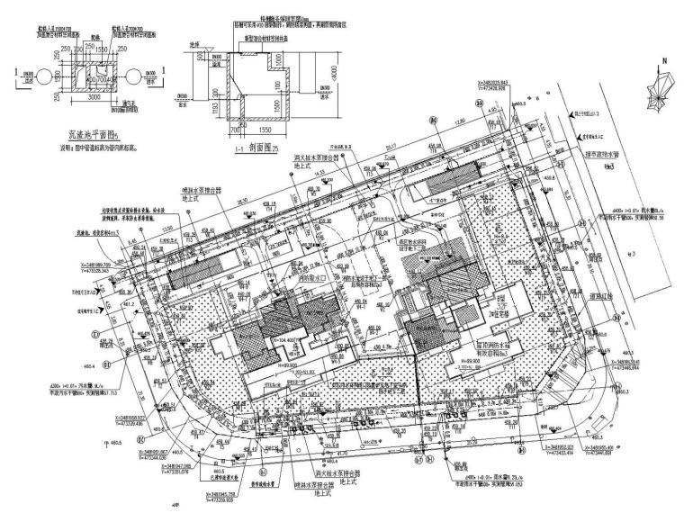 [绵阳]知名商业广场地下室给排水消防施工图