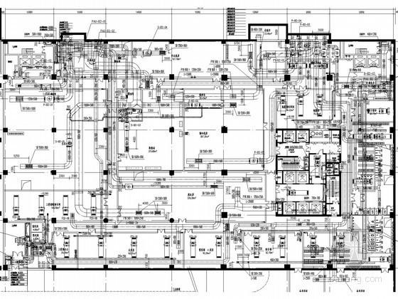 [内蒙古]五星级酒店采暖空调通风防排烟系统设计施工图(厨房冷库系统 系统图多)