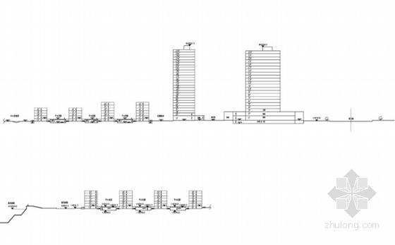 住宅区剖面图