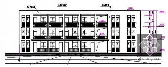 [安徽]教学楼建筑及安装工程量清单计价实例(附图纸及软件文件)-立面图