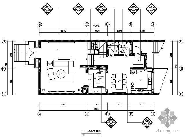 [西安]豪华国际社区别墅样板间施工图(含实景)