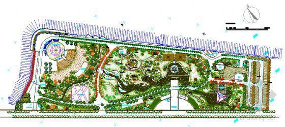 山峡工程截流纪念园景观植物配置图