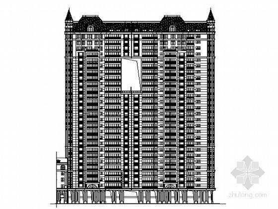 [湖南]某欧式现代小区二十六层住宅楼建筑施工图(3号楼)