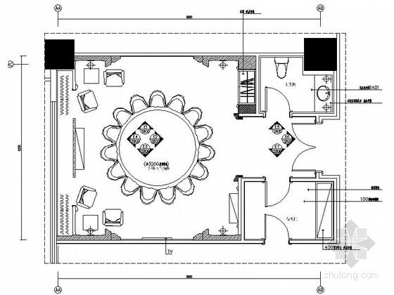 [昆山]奢华商务酒店包厢装修施工图(含效果)