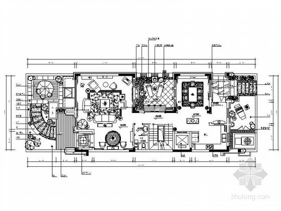 [上海]美式风格三层联排别墅装修图(含效果方案)