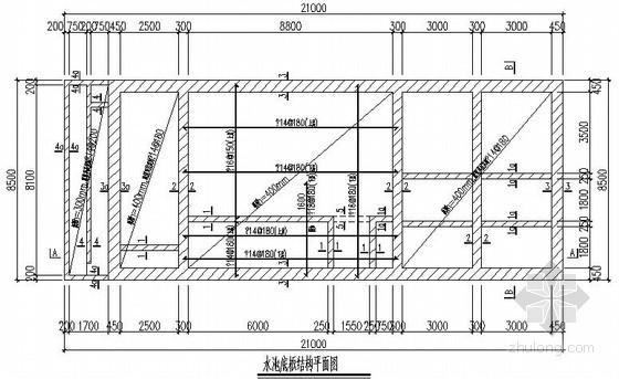 钢筋混凝土沉井结构设计图