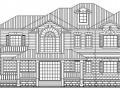 某二层德式风格别墅建筑施工图