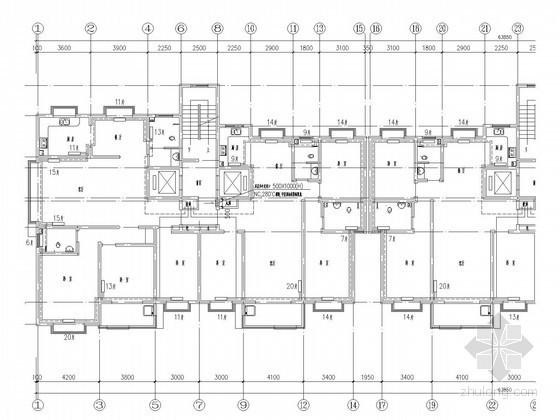 高层住宅楼采暖系统设计施工图(非对称户型)