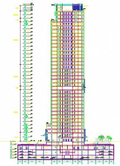 [北京]高层大厦施工组织设计(钢管混凝土框架、核心筒)