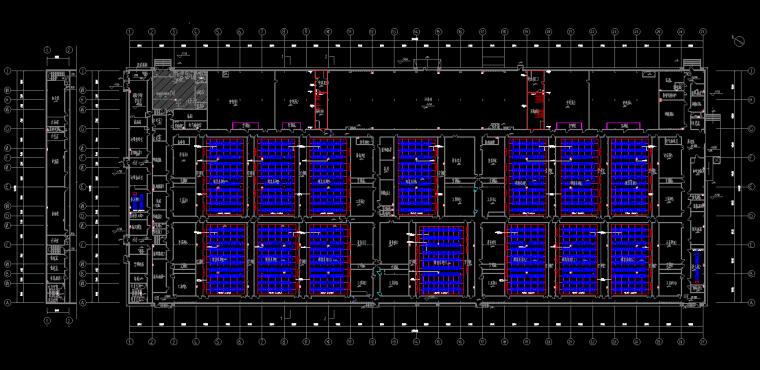 北京大型厂房电气装修图纸-接地平面图