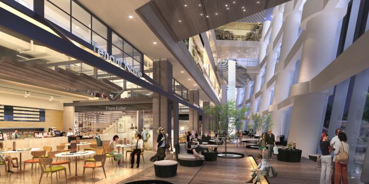 [福州]三层现代风格中心商场施工图(含效果图+SU模型)_6