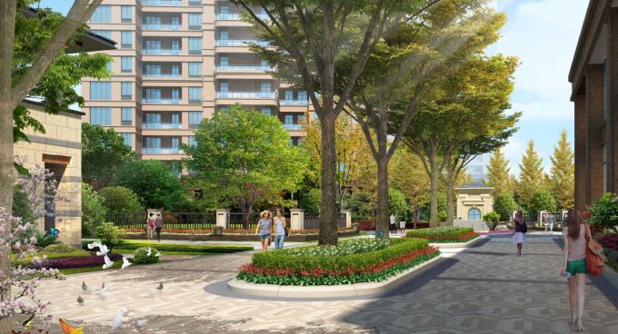 [湖南]滨水自然漫步通廊生态居住区景观设计方案