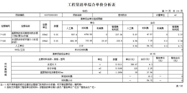 【广联达】综合清单导入工程实例1-清单计价表格_2