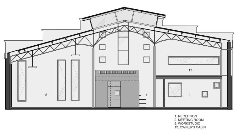 仓库改造后的办公室——悬浮于建筑中心的混凝土楼梯-1522677836864809.jpg