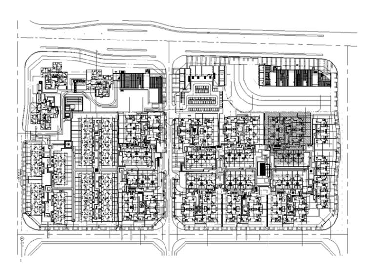 [重庆]龙湖睿城居住区景观规划设计总区CAD施工图纸(新中式,校园景观居住区,含全套方案文本)