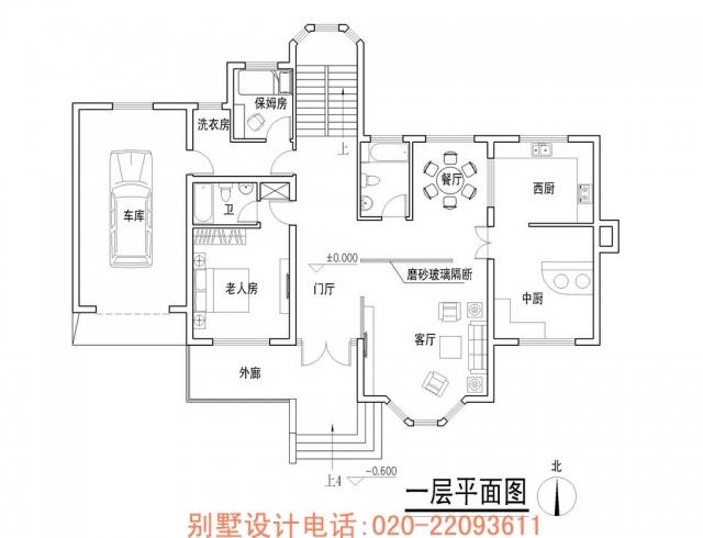 一层平面图别墅施工图