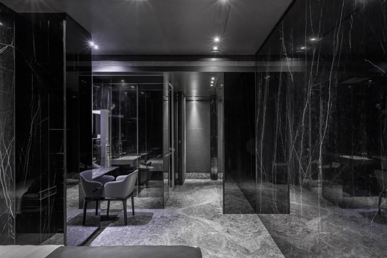 台北黑色调的公寓_10