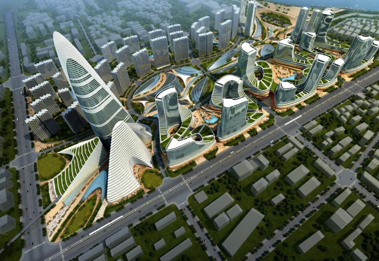[湖北]武汉滨江生态城市商业综合体设计方案文本(PDF)