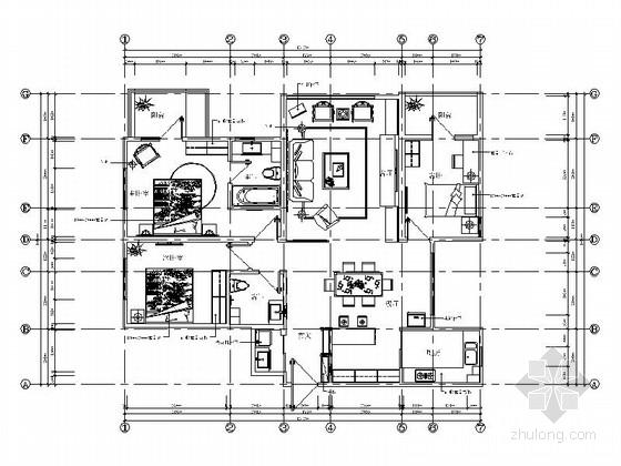 清新浪漫混搭风格两居室装修图(含实景图)