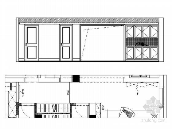 [嘉兴]时尚优质两居室装修图(含效果图) 立面图