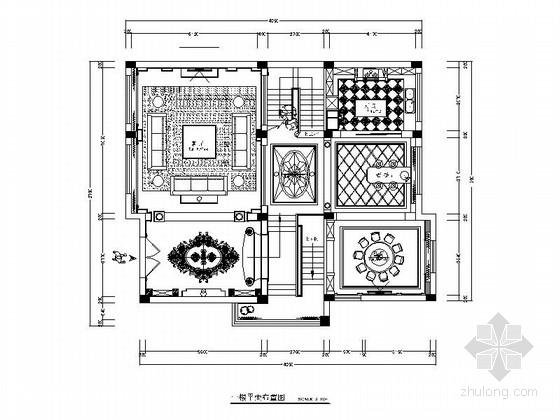 [原创]高贵欧式风格四层别墅住宅CAD施工图(含高清效果图)