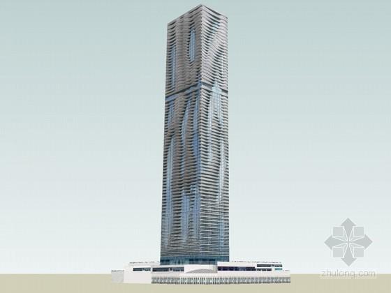 时尚建筑SketchUp模型下载-时尚建筑