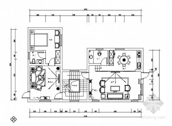 [韶山]淡雅中式风格四层别墅庄园室内施工图