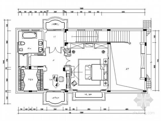 [北京]精品优雅现代风格两层别墅室内装修施工图(含效果)