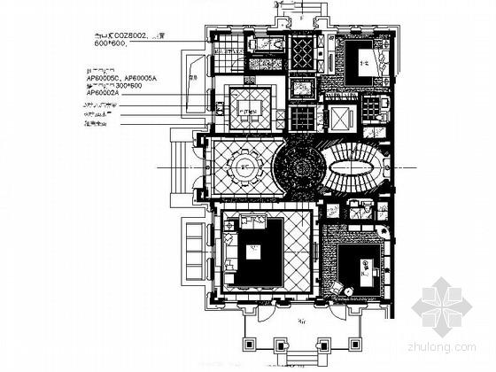 [浙江]豪华舒适两层别墅室内设计CAD施工图
