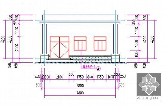 室外工程立面图