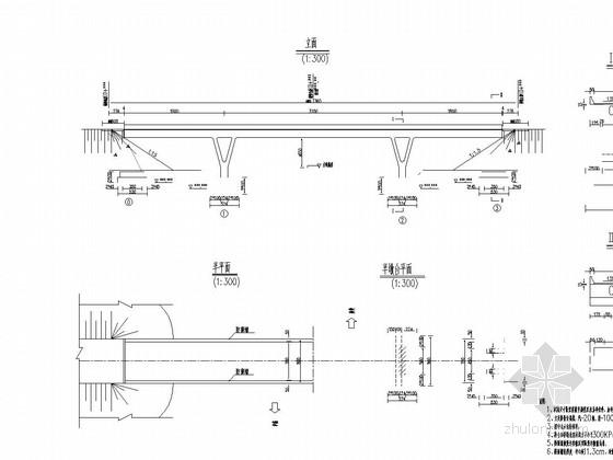 18m+32m+18m现浇预应力连续刚构天桥通用图22张(Y型墩)