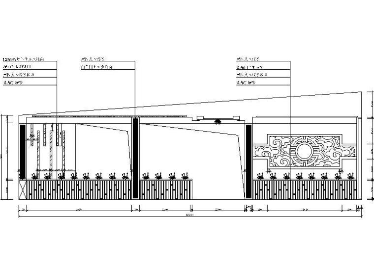 [北京]某日产4S店服务中心餐厅设计施工图(含效果图)-[北京]某日产4S店服务中心餐厅设计立面图