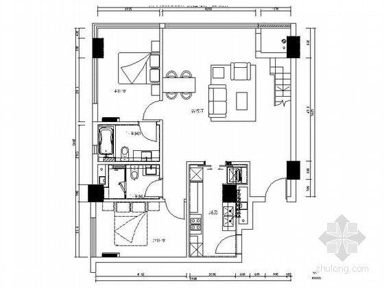 [浙江]精品loft风格98平两层别墅室内装修施工图