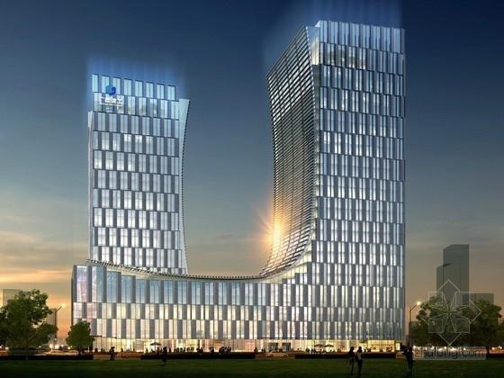 [广西]超高层办公综合体设计方案文本(含cad)