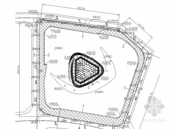 [江西]超高框筒结构基坑支护施工图(排桩 土钉墙)