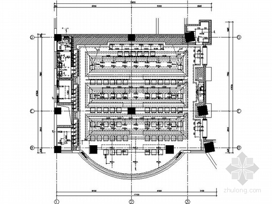 [西安]时尚华贵五星级酒店会议区及报告厅装修施工图(含效果)