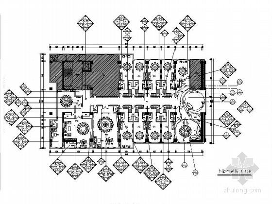 [上海]新中式优雅复古餐厅室内施工图(含效果图)