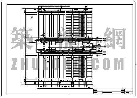 V型滤池工艺资料下载-15万吨水厂V型滤池工艺图纸
