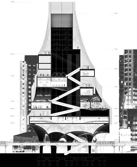 那些霸气的建筑剖面图_1