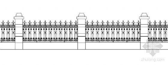 铁艺围墙详图