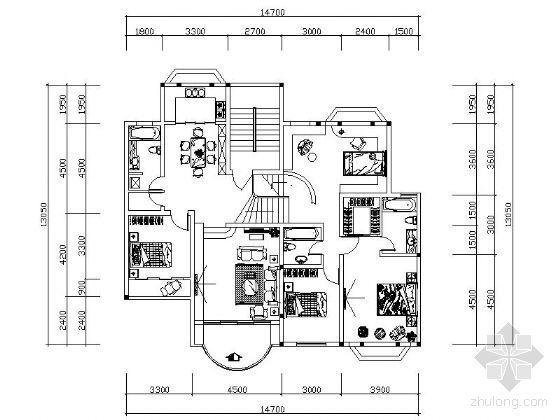 [学生作业]某别墅一层装修图