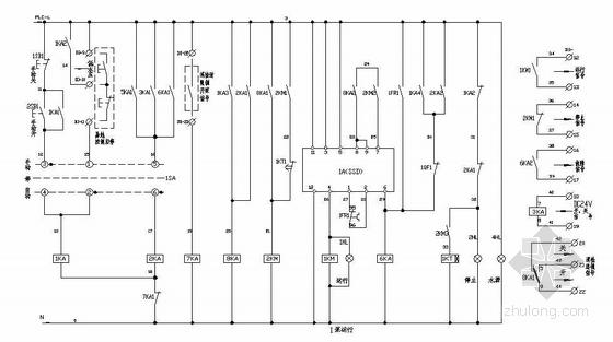 水泵PLC电气控制图