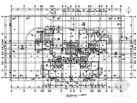 [广州]某高层住宅小区一梯四户户型平面图